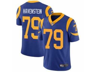 e65ba3442 Youth Nike Los Angeles Rams  79 Rob Havenstein Vapor Untouchable Limited  Royal Blue Alternate NFL