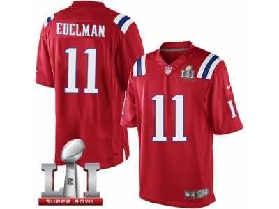 Youth Nike New England Patriots  11 Julian Edelman Limited Red Alternate Super  Bowl LI 51 6a7a3e2b1