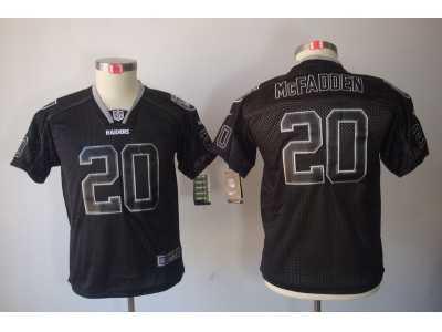 1efd0de3 Nike Youth Oakland Raiders #20 Darren McFadden Black jerseys(Lights Out)