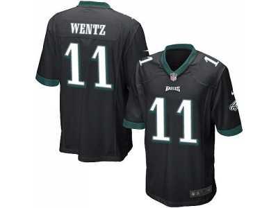 size 40 d21a7 4a89e Youth Nike Philadelphi Eagles #11 Carson Wentz Black ...