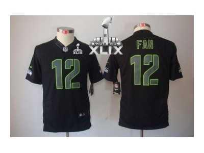 922130672 2015 Super Bowl XLIX nike youth nfl jerseys seattle seahawks  12 fan black  nike