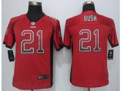 8d25fa932 Youth Nike San Francisco 49ers  21 Reggie Bush red Jerseys(Drift Fashion)