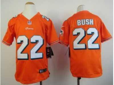 a2aafb3ad Nike Youth NFL Miami Dolphins  22 Reggie Bush Orange Jerseys Nike ...