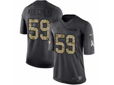 9b3954e19 ... Youth Nike Carolina Panthers  59 Luke Kuechly Limited Black 2016 Salute  to Service NFL Jersey