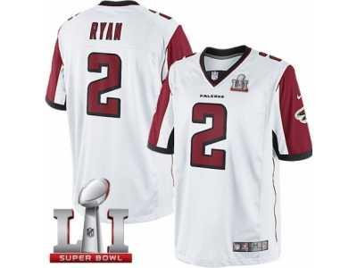 d83a8c9e4 ... shop youth nike atlanta falcons 2 matt ryan limited white super bowl li  51 nfl jersey