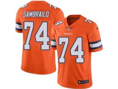 ... Youth Nike Denver Broncos  74 Ty Sambrailo Limited Orange Rush NFL  Jersey 4305c0c29