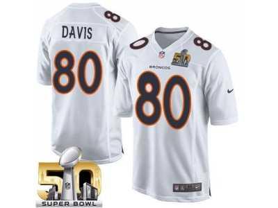 Youth Nike Denver Broncos  80 Vernon Davis White Super Bowl 50 Stitched NFL  Game Event c2c8e7c6e