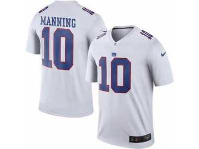 buy online 60604 b58ca Men's Nike New York Giants #10 Eli Manning White Color Rush ...