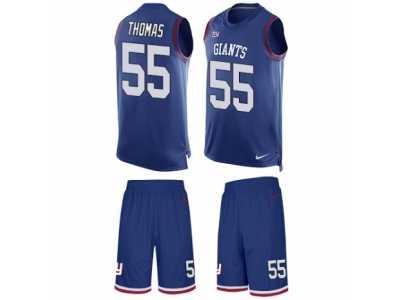 d0285b657 Men's Nike New York Giants #55 J.T. Thomas Limited Royal Blue Tank Top Suit  NFL