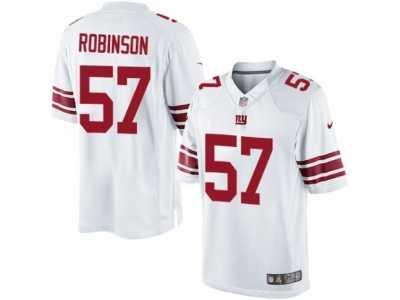 2a4d7b4654d Men  s Nike New York Giants  57 Keenan Robinson Limited White NFL Jersey