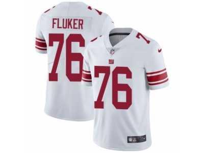 ef3cc6703 Men's Nike New York Giants #76 D.J. Fluker Vapor Untouchable Limited White  NFL Jersey