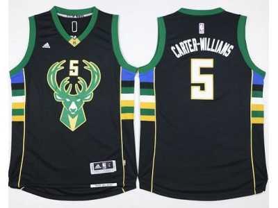 NBA Men Milwaukee Bucks  5 Michael Carter-Williams Black Stitched Jersey bb89a2db1