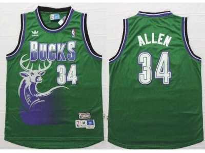 NBA Milwaukee Bucks  34 Ray Allen Green Throwback New Stitched jerseys 70ccdaf5a