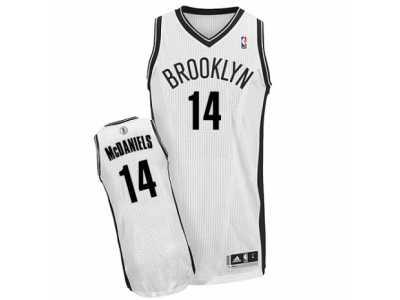 924b5e49623 Men\'s Adidas Brooklyn Nets #14 KJ McDaniels Authentic White Home NBA Jersey