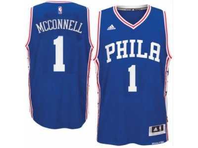 Men s Philadelphia 76ers  1 T. J. McConnell adidas Royal Swingman Road  Jersey 948a1c912