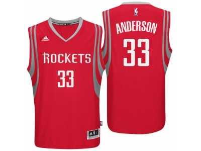 ecccd160554 Men Houston Rockets  33 Ryan Anderson Road Red New Swingman Jersey ...