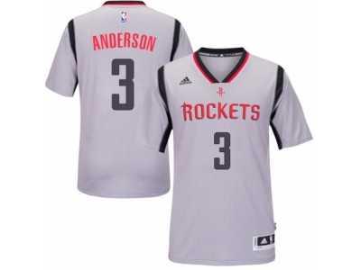 b011cdf51efe Men  s Adidas Houston Rockets  3 Ryan Anderson Authentic Grey Alternate NBA  Jersey