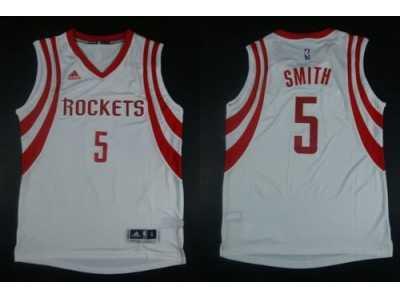 75bc6033cc3 NBA Revolution 30 Houston Rockets  5 Josh Smith white Road Stitched Jerseys