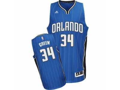 707a36da0 Men s Adidas Orlando Magic  34 Jeff Green Swingman Royal Blue Road NBA  Jersey