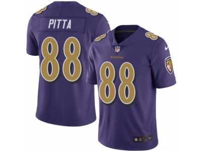 239bd7937b9 Youth Nike Baltimore Ravens  88 Dennis Pitta Limited Purple Rush NFL Jersey