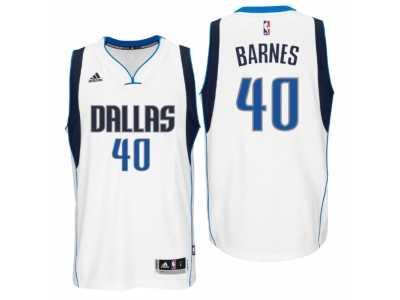 b9462d4aa66 Men Dallas Mavericks  40 Harrison Barnes New Swingman Home White Jersey